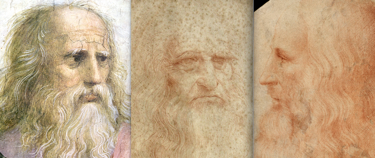 Il volto di Leonardo da Vinci