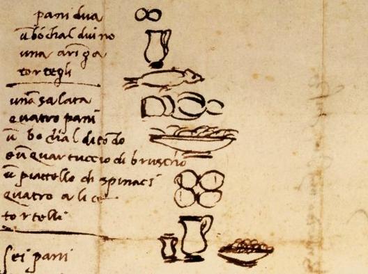 Michelangelo Buonarroti e il cibo per i suoi collaboratori